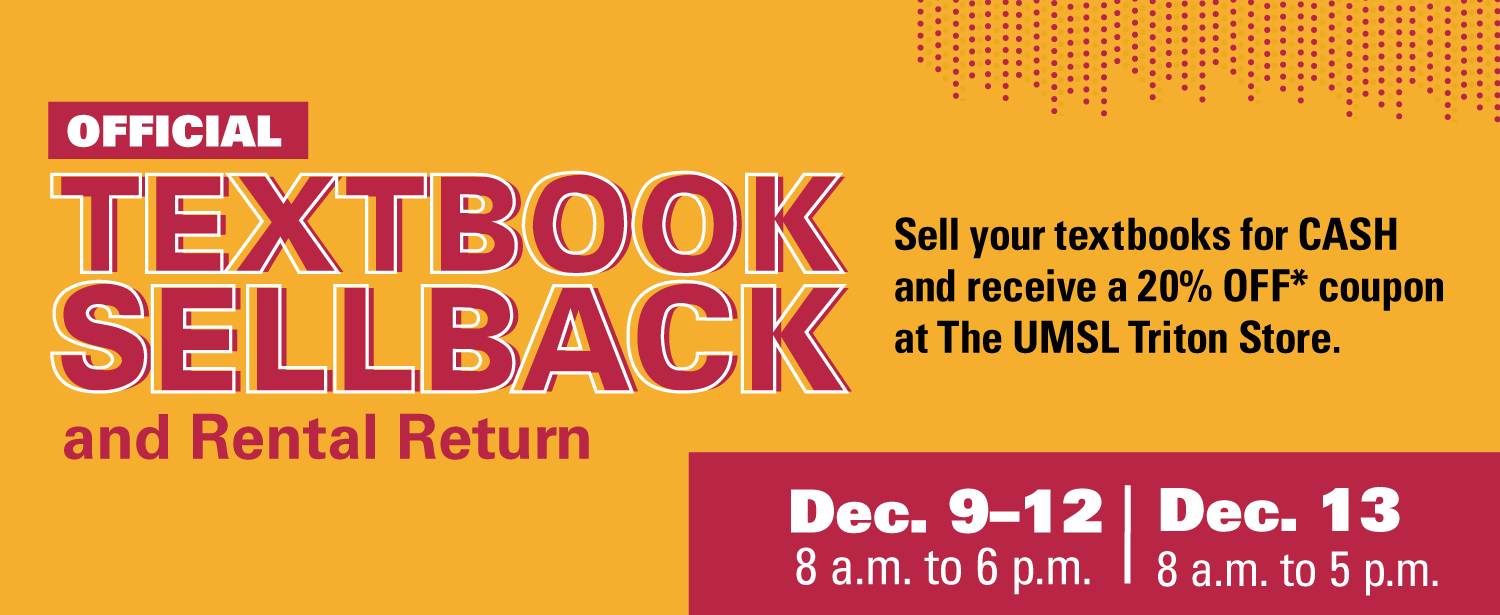 Sellback and Rental Return is from December 9th through 13th