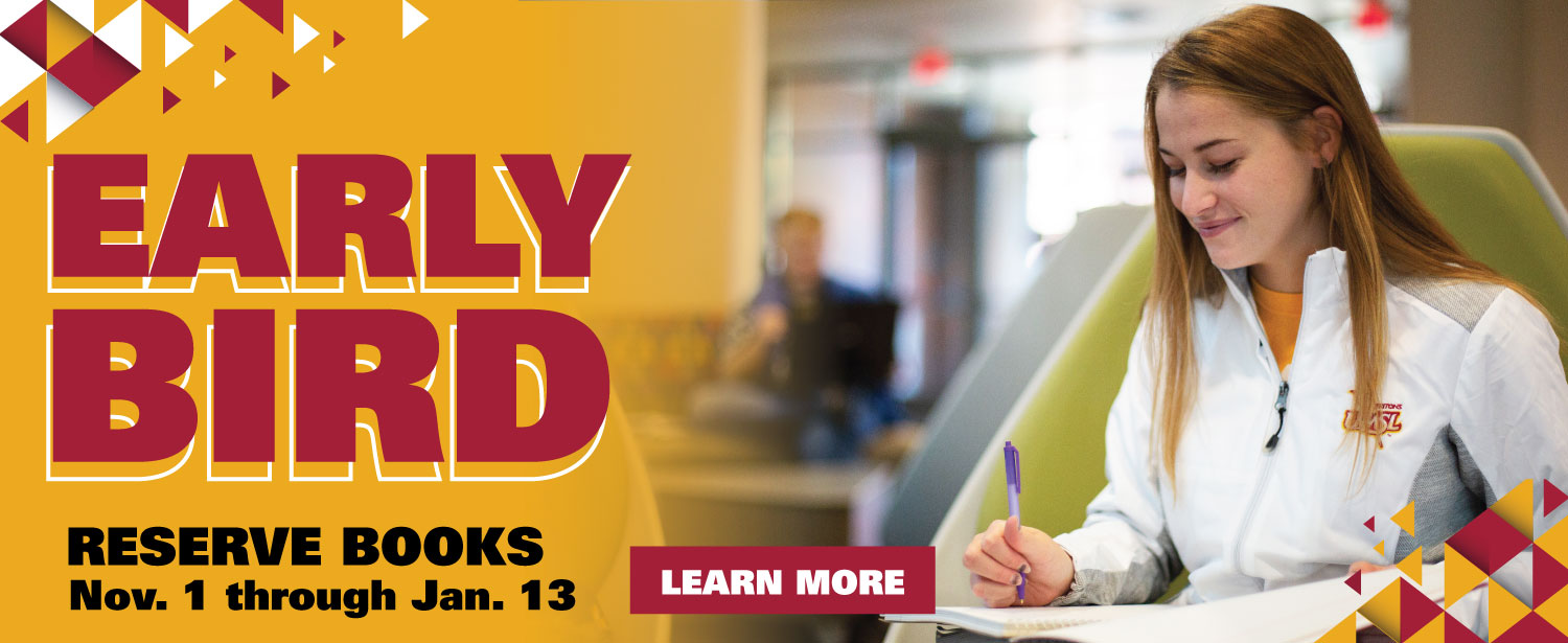 Reserver your Spring Semester books now!
