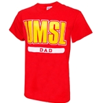 UMSL Dad Red Crew Neck T-Shirt