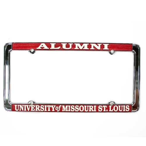 University of Missouri St. Louis Alumni Red Single License Plate Frame