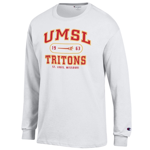 UMSL Tritons Champion White Crew Neck Shirt