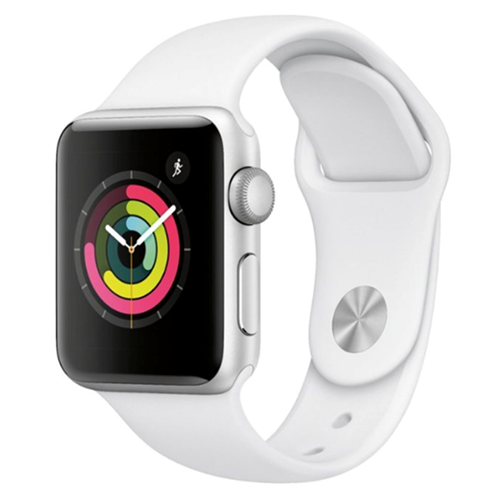 Apple Watch Series 3 (GPS) 42mm Silver Aluminum Case with White Sport Band