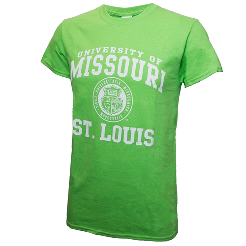 University of Missouri St Louis Official Seal Lime Green T- Shirt