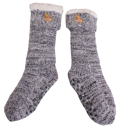UMSL Tritons Sherpa and Silver Feather Knit Socks