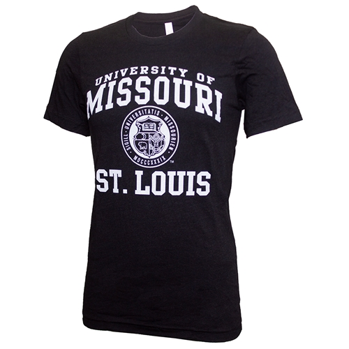 UMSL University of Missouri St. Louis Seal Black T-Shirt